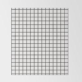 White & Black Grid Throw Blanket