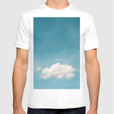 poof SMALL White Mens Fitted Tee