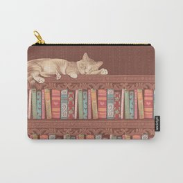 Cat in the library Carry-All Pouch