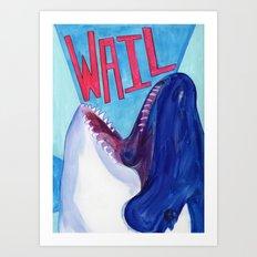WAIL Whale Art Print