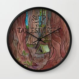 Sleep with the Tallest Trees Wall Clock