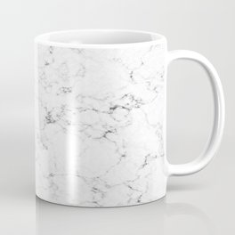 Marble White, Black and Gray 2 Texture Abstract Photography Design Coffee Mug