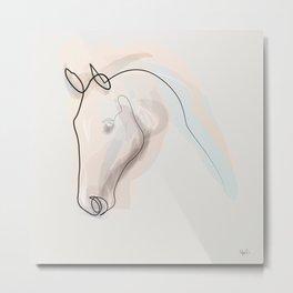 Oneline Horse 70615 Metal Print