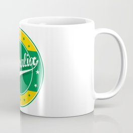 Australia, circle, green yellow Coffee Mug