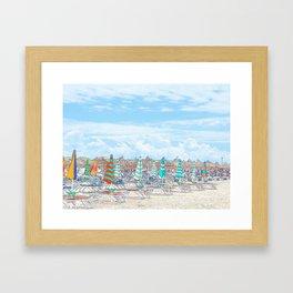 """""""Beach Front"""" Framed Art Print"""