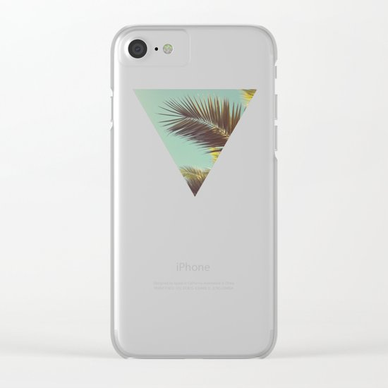 Autumn Palms Clear iPhone Case