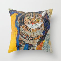 Tobin the kitty Throw Pillow