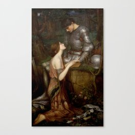 John Waterhouse - Lamia Canvas Print