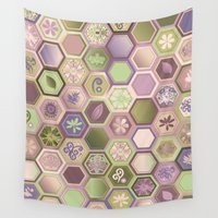 polygon Wall Tapestries featuring Polygon pattern by /CAM