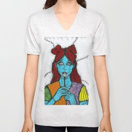 SALLY - THE NIGHTMARE BEFORE CHRISTMAS Unisex V-Neck