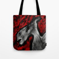 horror Tote Bags featuring Horror by Chlor