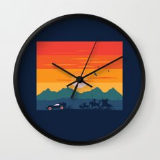 Back to the Wild West Wall Clock