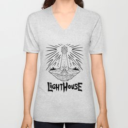 Ligth House Unisex V-Neck