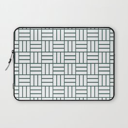 Basketweave (Dark Green & White Pattern) Laptop Sleeve