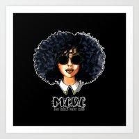 M.C.D.C (My Curls Don't Care) Black Art Print