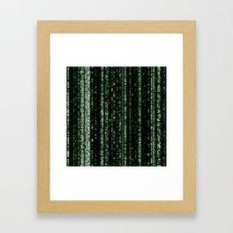 Streaming Mathematical Array Framed Art Print