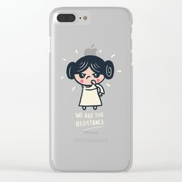 We Are the Resistance Clear iPhone Case