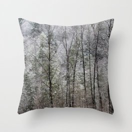Snow Dusted Trees, No. 1 Throw Pillow