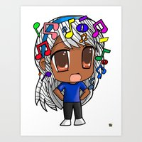 Art Print featuring Chibi Euphony by Raheem Nelson