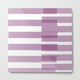Big Stripes in Purple Metal Print