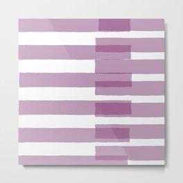 Big Stripes in Purple Metal Print
