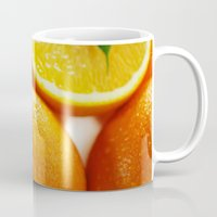 dentist Mugs featuring Fresh Orange for the Kitchen by Tanja Riedel