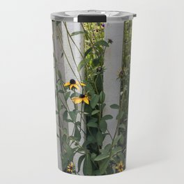 Fenced In Black Eyed Susans Travel Mug