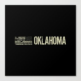 Black Flag: Oklahoma Canvas Print