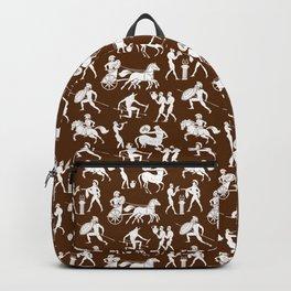 Greek Figures // Brown Backpack