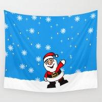 santa Wall Tapestries featuring Santa by David Casciani