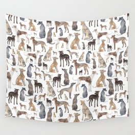 Greyhounds and Whippets Wall Tapestry