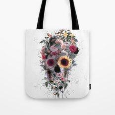 Skull Floral Tote Bag