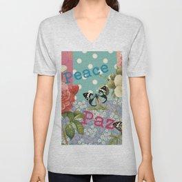 Peace Paz Pax Pace Unisex V-Neck