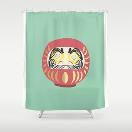 Daruma Doll Shower Curtain