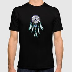 Dreamcatcher MEDIUM Black Mens Fitted Tee