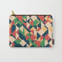 Abstract geometric background. Modern overlapping triangles and squares. Carry-All Pouch