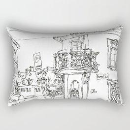 Minimal Line Settlement 2 Rectangular Pillow