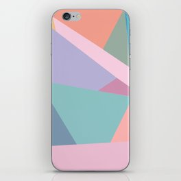 Fractured Triangles in Playful Color iPhone Skin
