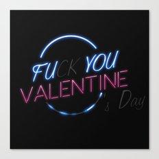 FU**YOU VALENTINE'S DAY Canvas Print