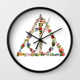 Truly Floral Deathly Hallows Wall Clock