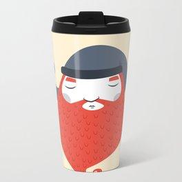 Beard Metal Travel Mug