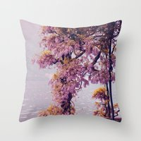 milan Throw Pillows featuring Milan by juliette-mainx
