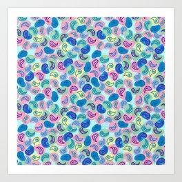 Paisley Bubble Pattern Art Print