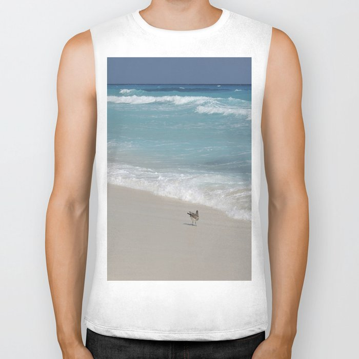 Carribean sea 8 Biker Tank