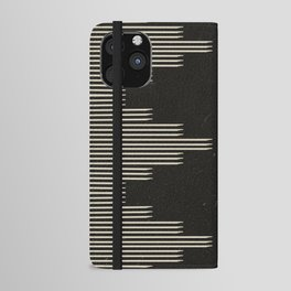 Southwestern Minimalist Black & White iPhone Wallet Case