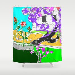 Jacaranda  time in Queensland, AUSTRALIA      by Kay Lipton Shower Curtain