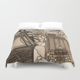 Adventure (in sepia) Duvet Cover