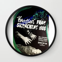 House of Horrors, vintage horror movie poster,  Krossen, Fran Skrackens Hus Wall Clock