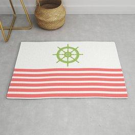 AFE Green Nautical Wheel Rug