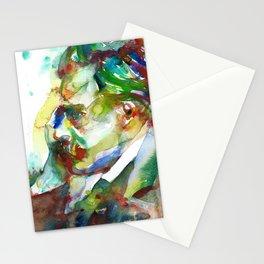 FRIEDRICH NIETZSCHE - watercolor portrait.3 Stationery Cards